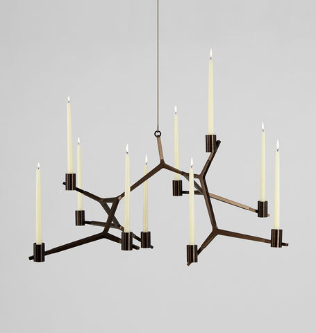 Hanging - 10 Candles (Bronze)