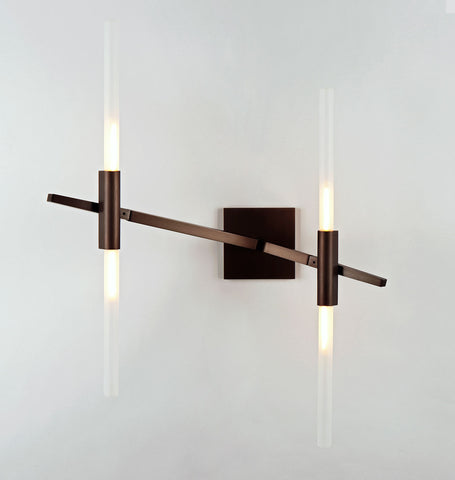 Sconce - 4 Lights (Bronze/Straight-cut glass)