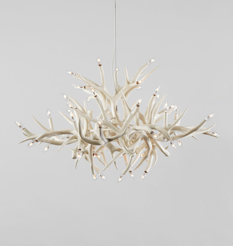 Chandelier 24 Antlers White