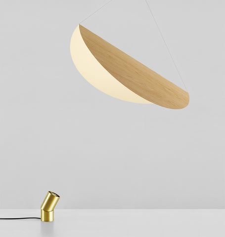 Large Shade (White oak/Brushed brass)