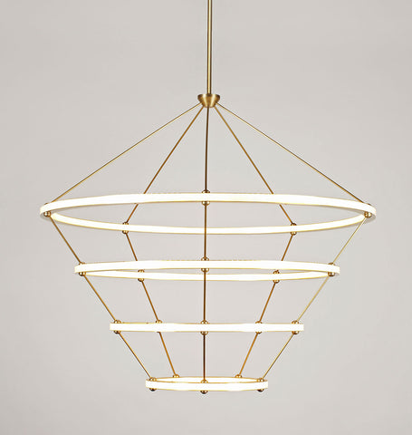 Chandelier - 4 Rings (Brushed brass)