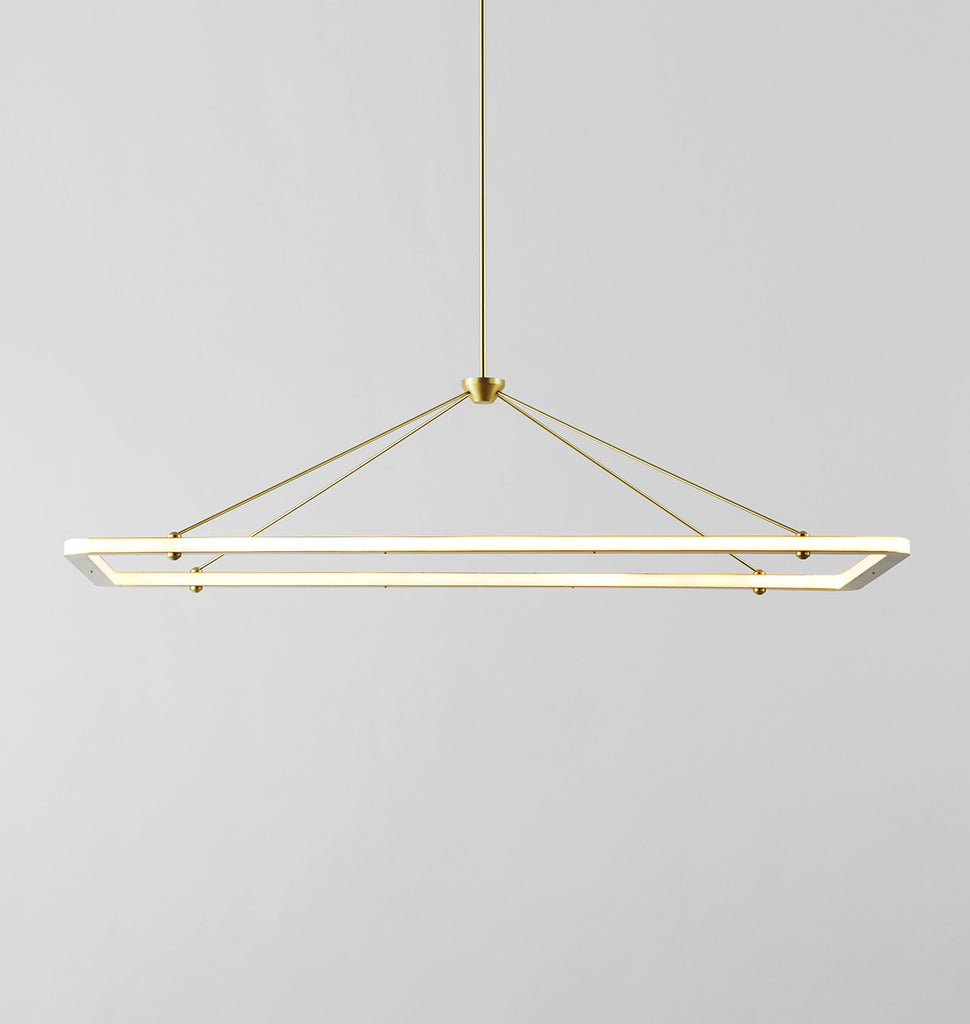 Halo rectangle pendant roll hill rectangle pendant brushed brass aloadofball Image collections