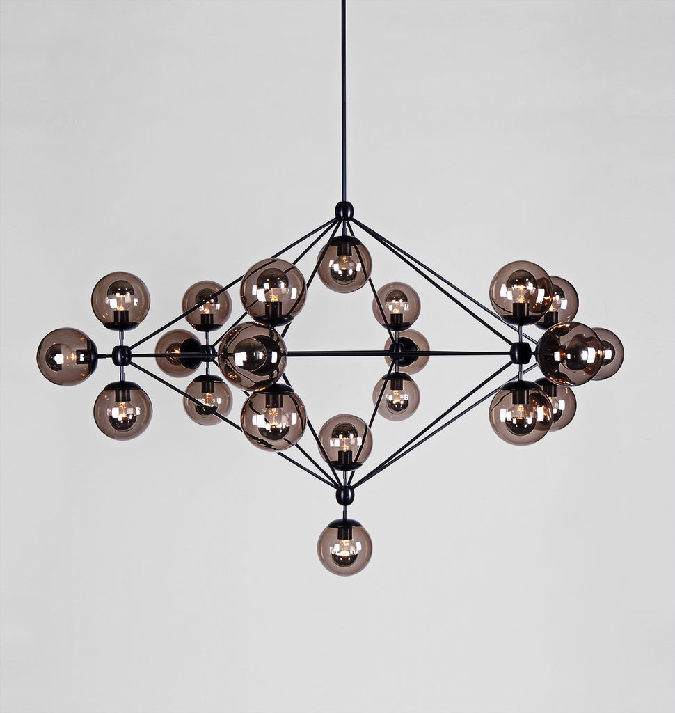 Modo roll hill chandelier 6 sided 21 globes blacksmoke mozeypictures Choice Image
