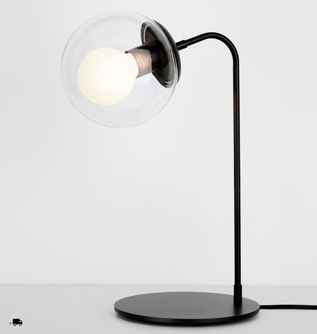 Desk Lamp (Black/Clear)