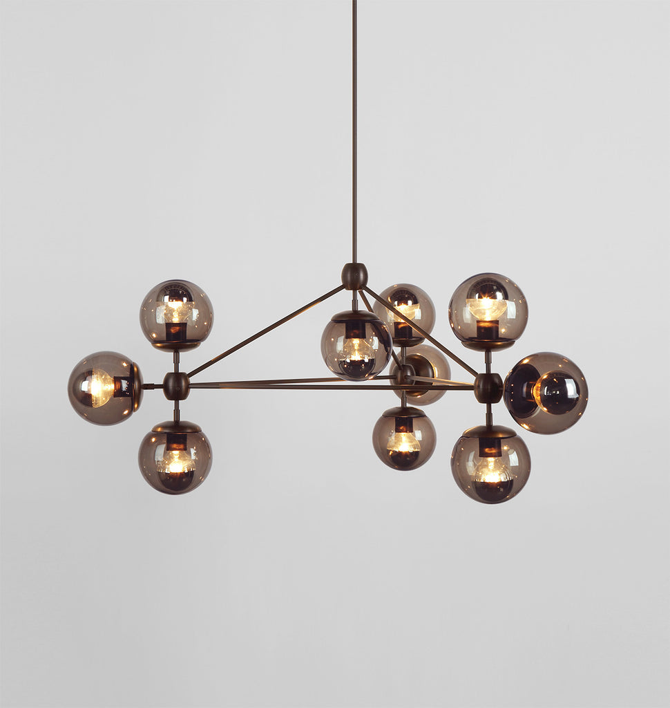 bronze bronzesmokedark modo chandelier products roll hill smoke rh sided globes images