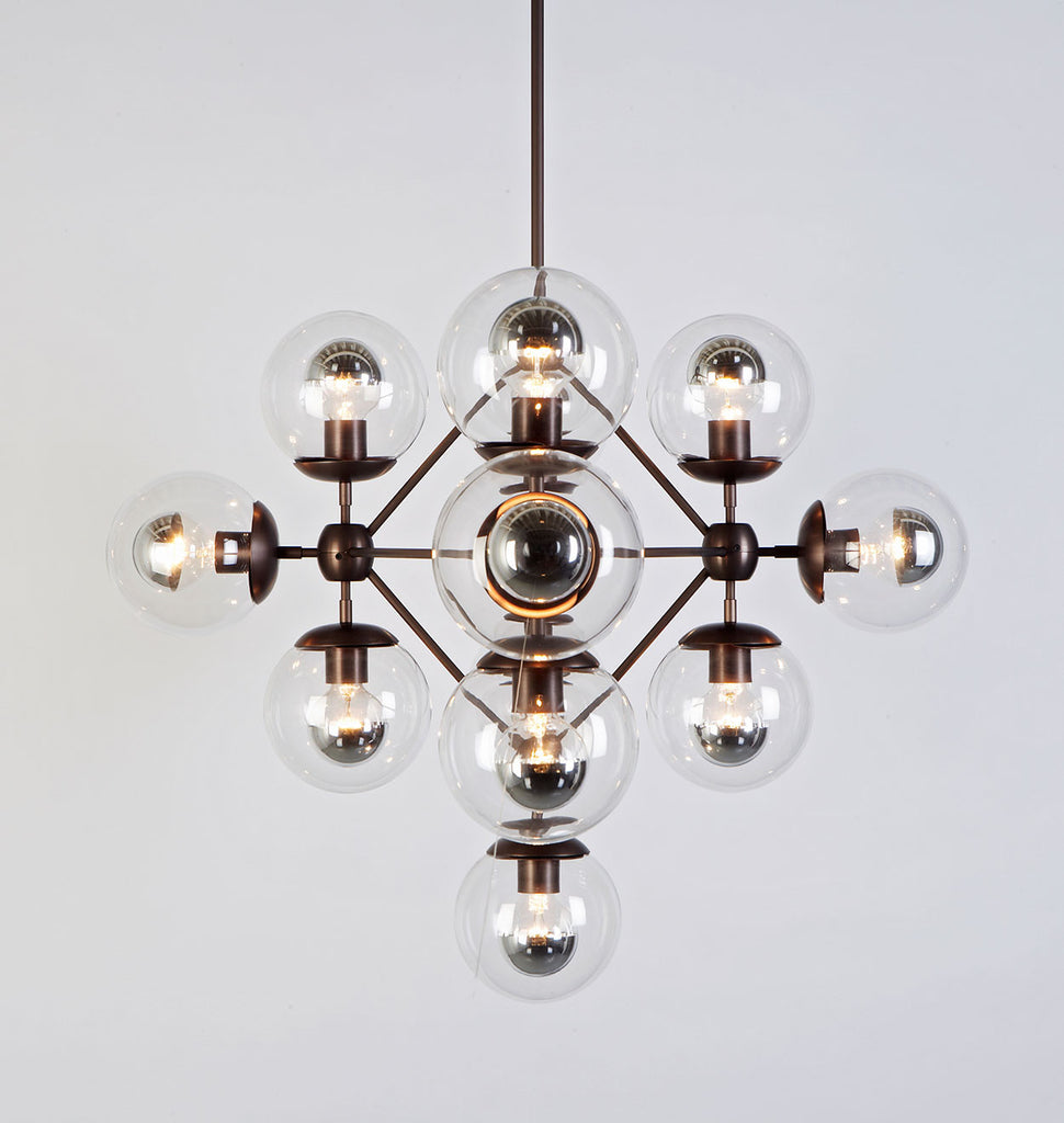 Modo roll hill chandelier diamond 13 globes bronzeclear mozeypictures Images