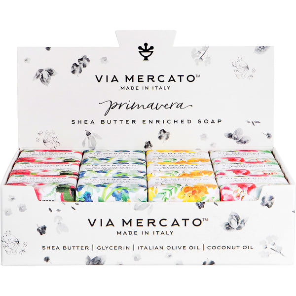 Via Mercato Primavera Mixed Display - Spring Flowers - European Soaps