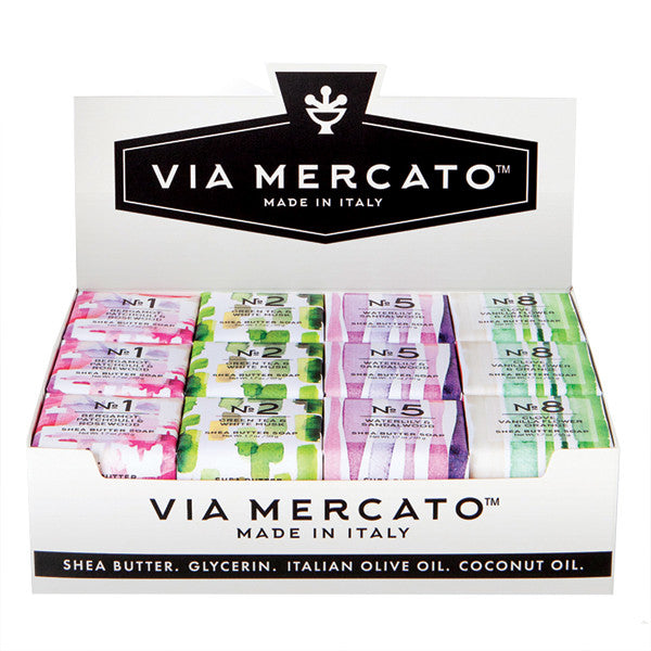 Via Mercato Mini Soap Assortment - No. 1, No. 2, No 5, & No. 8 - European Soaps
