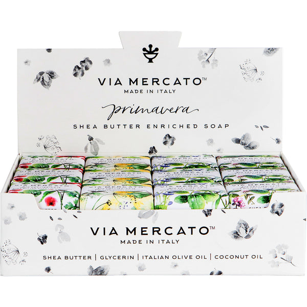 Via Mercato Primavera Mixed Display - Fresh Herbs - European Soaps