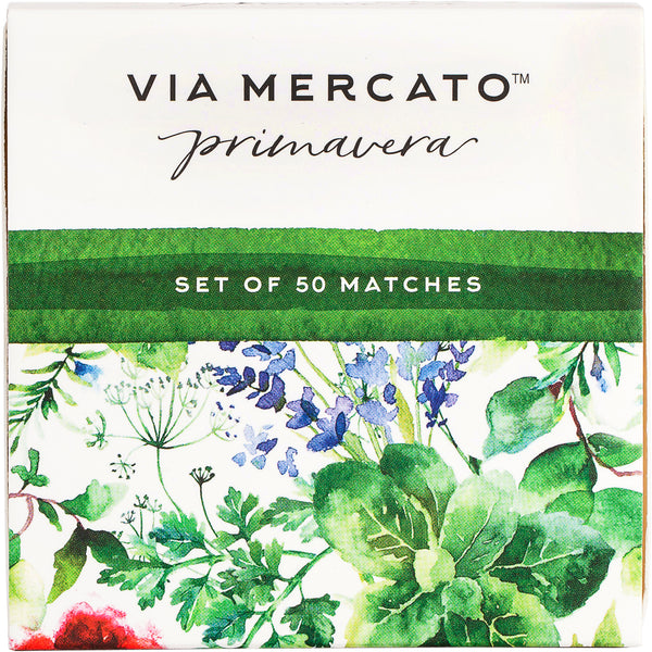 Wholesale Via Mercato Primavera 50Pc Match Box Set - Fresh Herbs - European Soaps