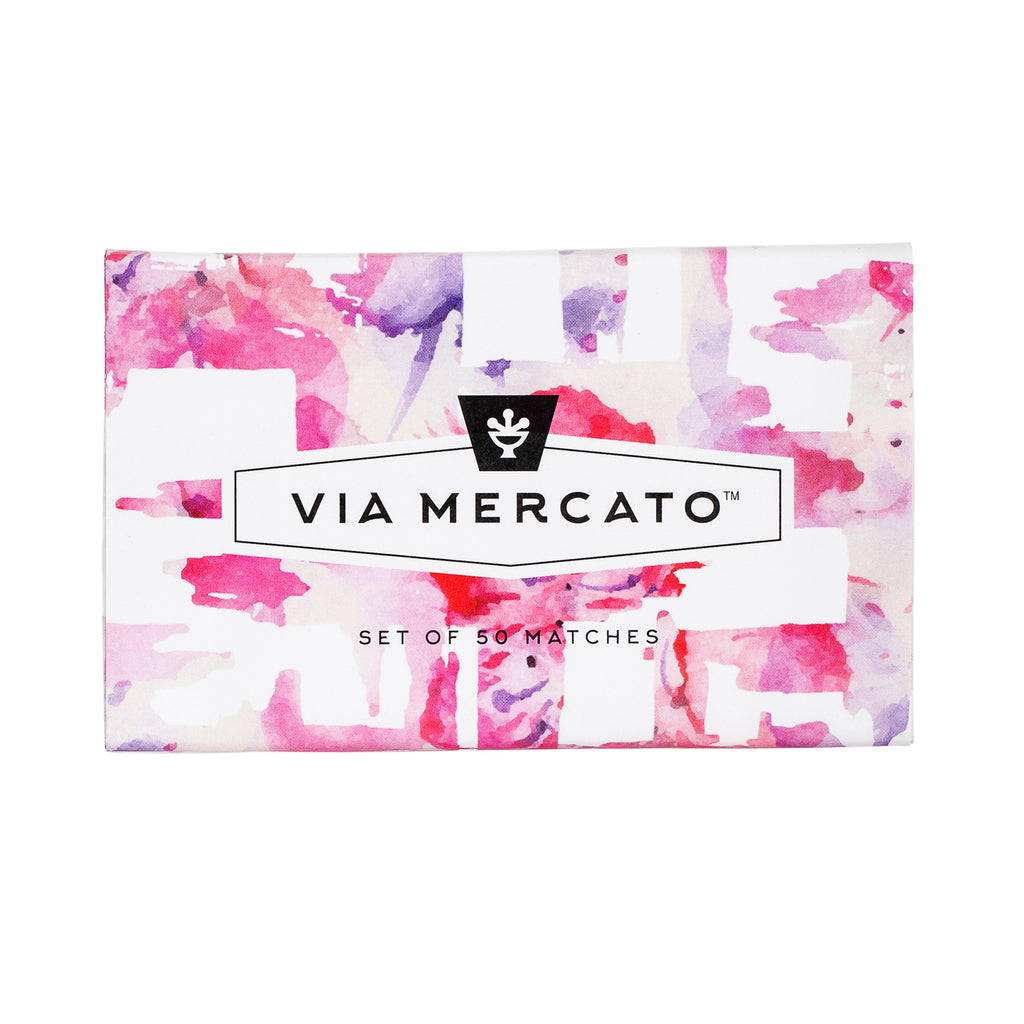 Via Mercato Oversized Matches - Pink - European Soaps