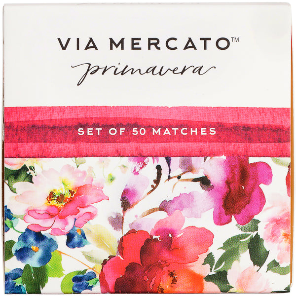 Wholesale Via Mercato Primavera 50Pc Match Box Set - Spring Flowers - European Soaps
