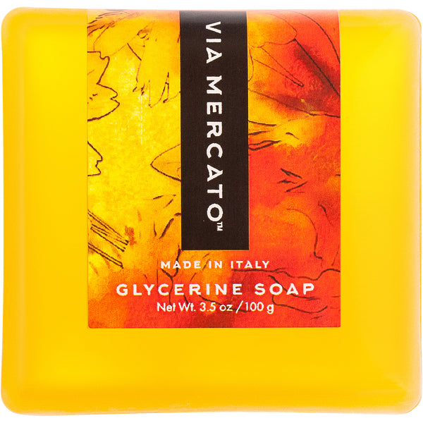 Via Mercato Bella Glycerine Soap - Loquat, Peach & Mandarin - European Soaps