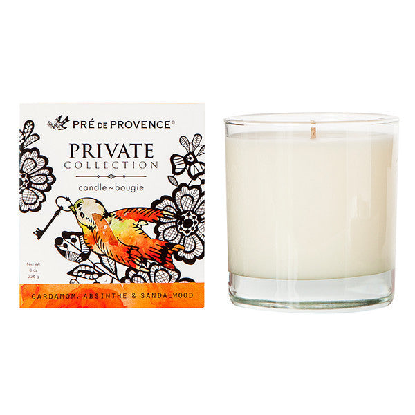 Private Collection Candle - Cardamom, Absinthe & Sandalwood - European Soaps