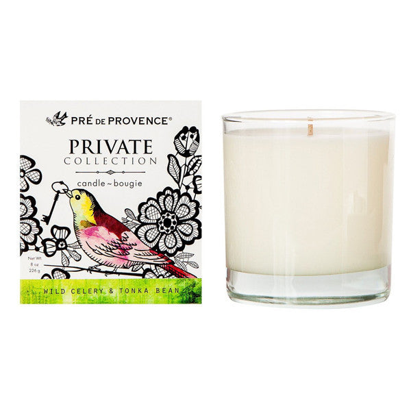 Private Collection Candle - Wild Celery & Tonka Bean - European Soaps