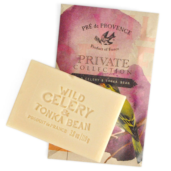 Private Collection Soap Bar - Wild Celery & Tonka Bean - European Soaps
