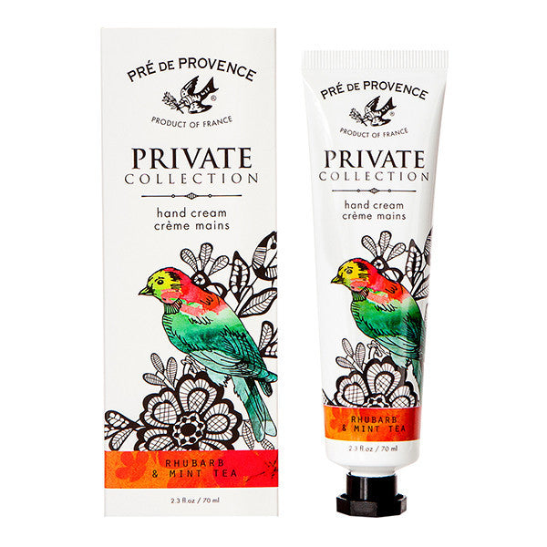 Private Collection Hand Cream - Rhubarb Mint Tea - European Soaps