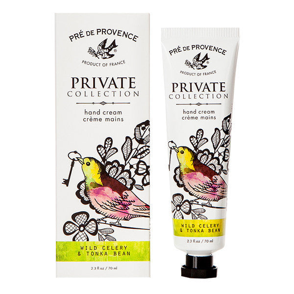 Private Collection Hand Cream - Wild Celery & Tonka Bean - European Soaps