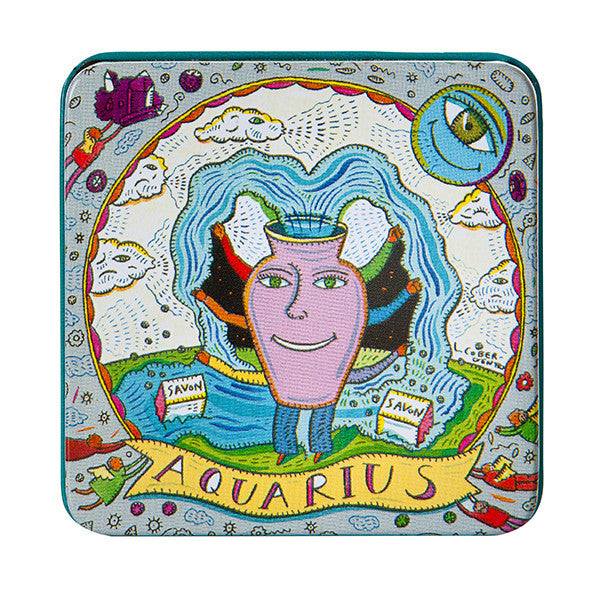 Zodiac Soap in Tin - Aquarius - European Soaps