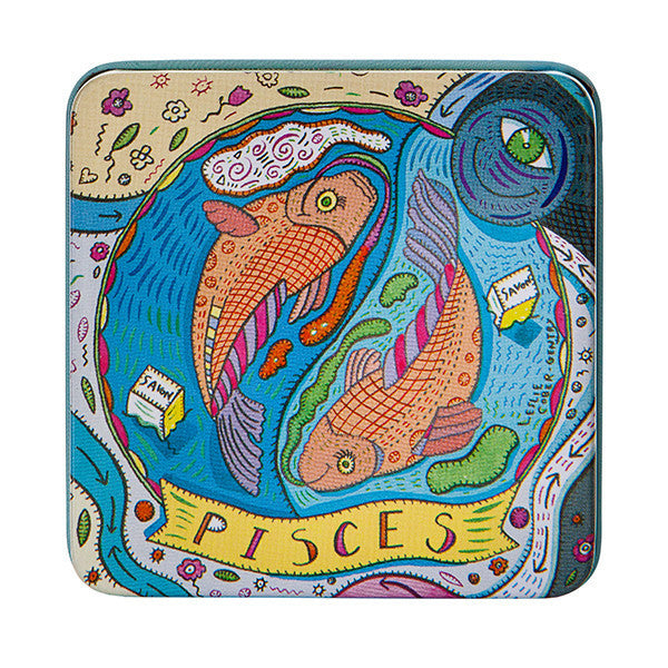 Zodiac Soap in Tin - Pisces - European Soaps