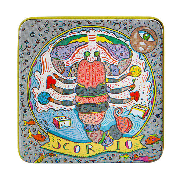 Zodiac Soap in Tin - Scorpio - European Soaps