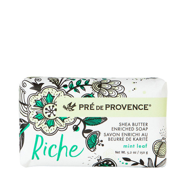 Wholesale Riche Wrapped Soap - Mint Leaf - European Soaps
