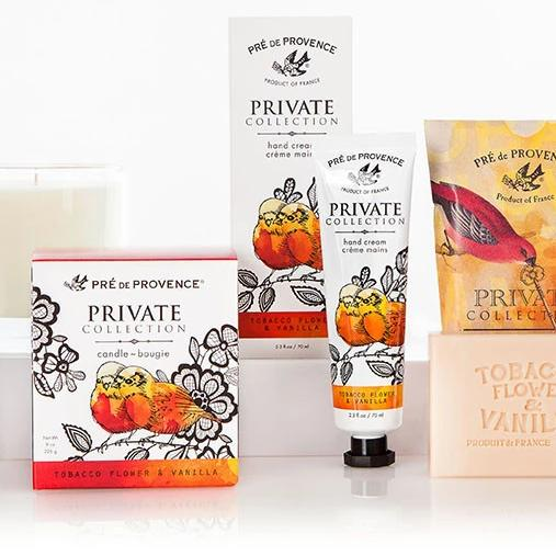 Pre de Provence Private Collection Fragrant Candle Tobacco Flower and Vanilla