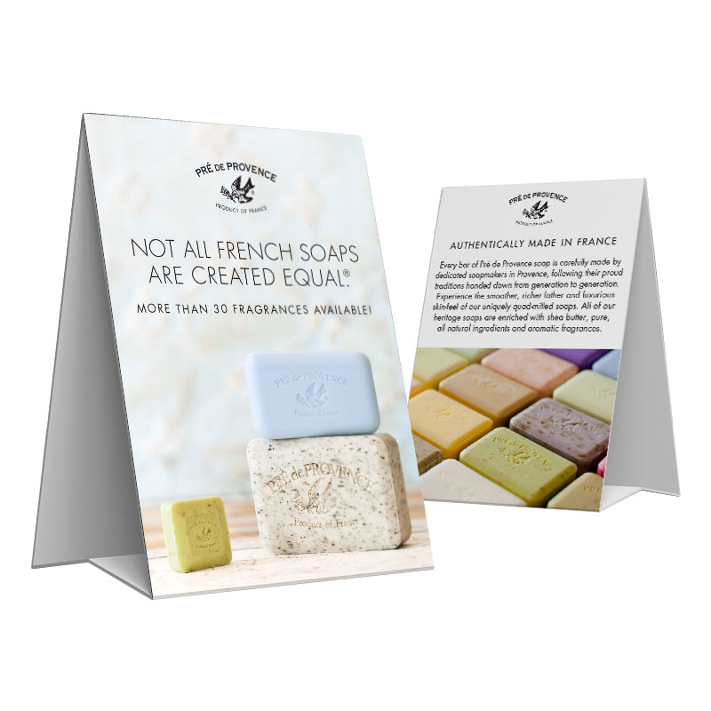 Heritage Soaps Tent Card