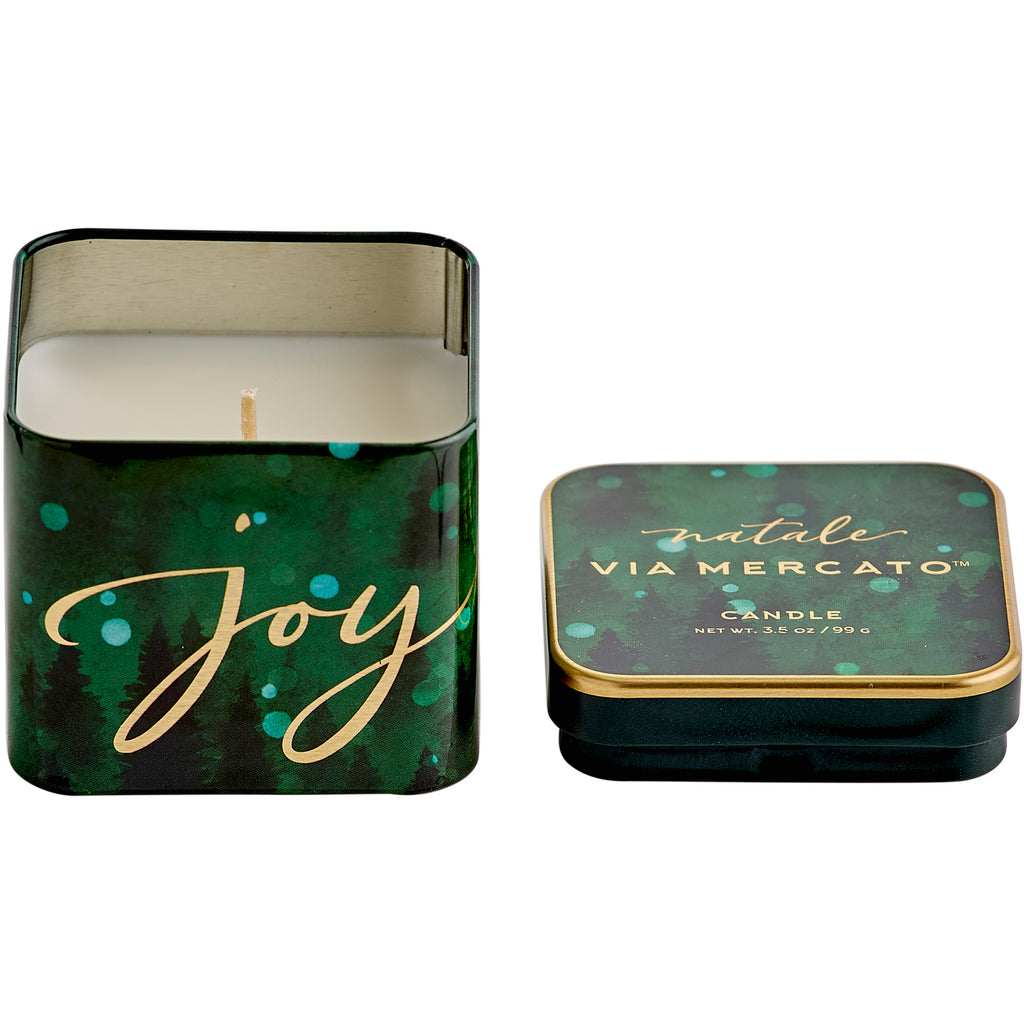 Natale Square Candle - Joy - European Soaps