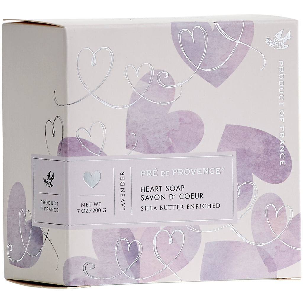 200g Heart Soap Gift Box - Lavender - European Soaps