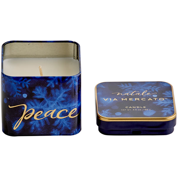 Natale Square Candle - Peace