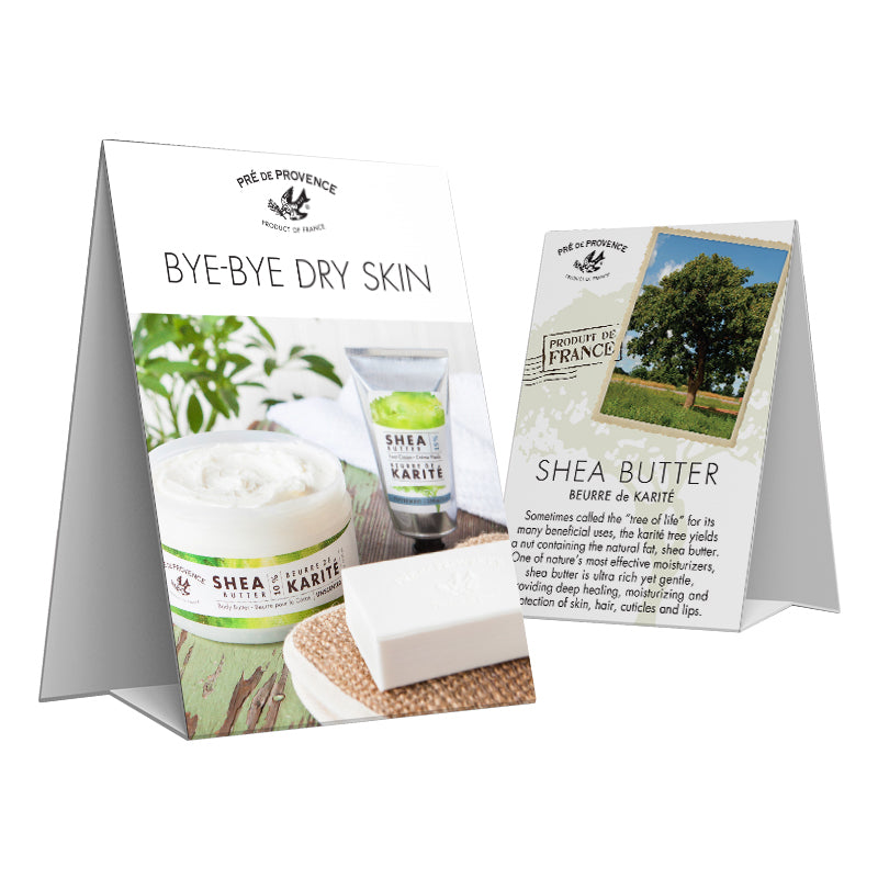 Shea Butter Tent Card - European Soaps