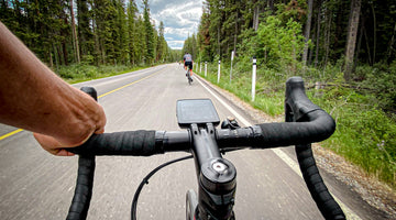 Cycling in Banff National Park. Jordan Paul perspective view.