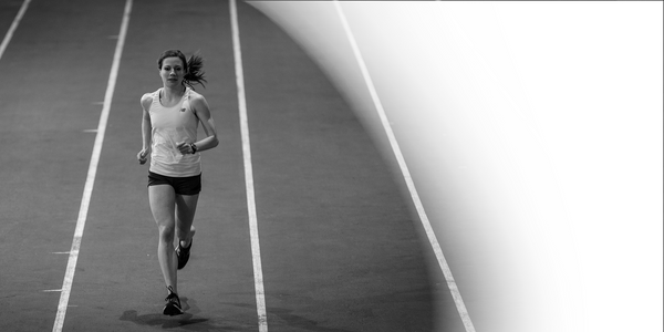 Canadian Olympic runner and endurance coach Jessica O'Connell training at Calgary's Olympic Oval.