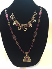 "Amethyst, Agate and Ametrine ""Triple A"" Necklace and Bracelet Set"