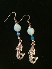 Blue Agate Quartz Earrings
