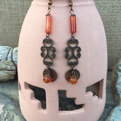 Carnelian Quartz Earrings