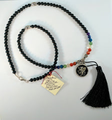 Mala Prayer Necklace with Seven Chakra Stones