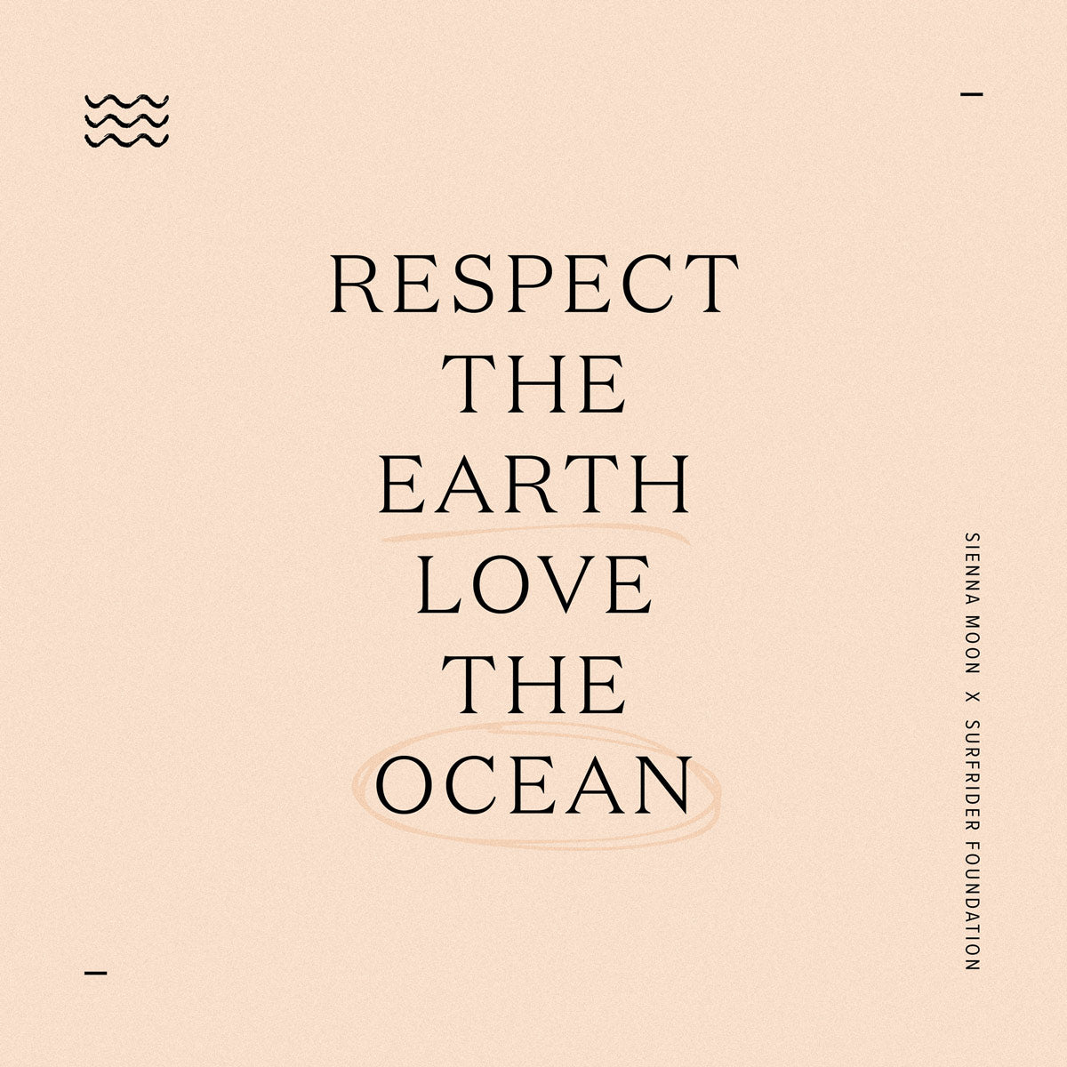 sienna moon x surfrider foundation