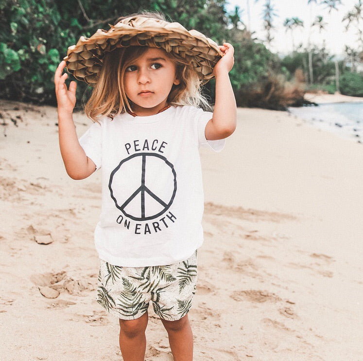 Kids Organic Peace On Earth Tee