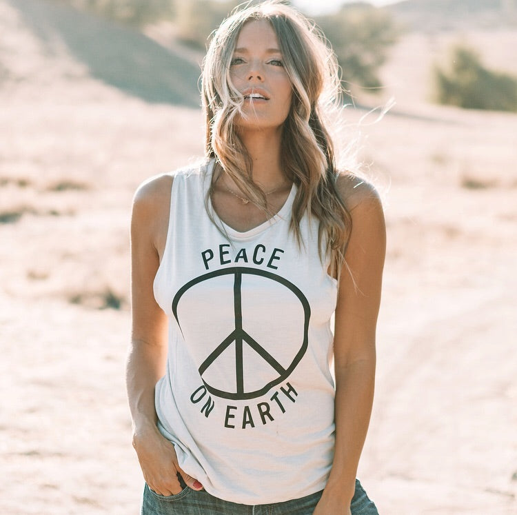 Peace On Earth Muscle Tank