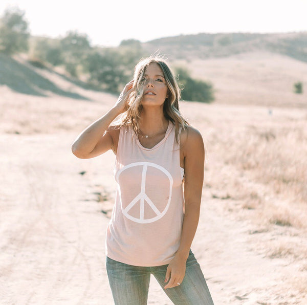 Rose Peace Muscle Tank