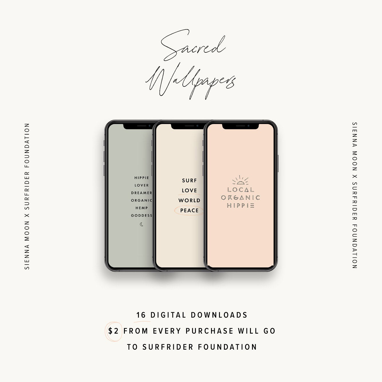 Sacred iPhone Wallpapers | Sienna Moon x Surfrider Foundation
