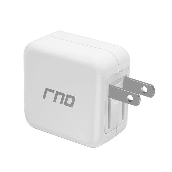 RND QC3.0 Quick Charge compatible USB AC / Wall Charger (QC2.0 Compatible) with Foldable Plug Galaxy (S7, S6, Edge), Note (5, 4), LG (G5, V10), HTC 10 and More