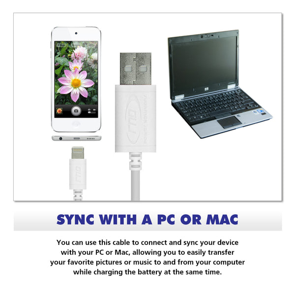 RND Apple Certified Lightning to Reversible USB 10 foot Cable for Data Sync and Charge 8-Pin Cable - RND Power Solutions - 7
