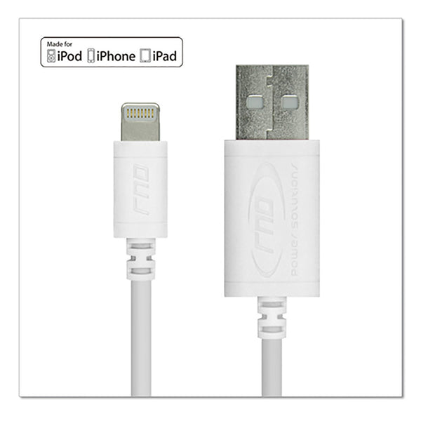 RND Apple Certified 10ft white lightning USB cable