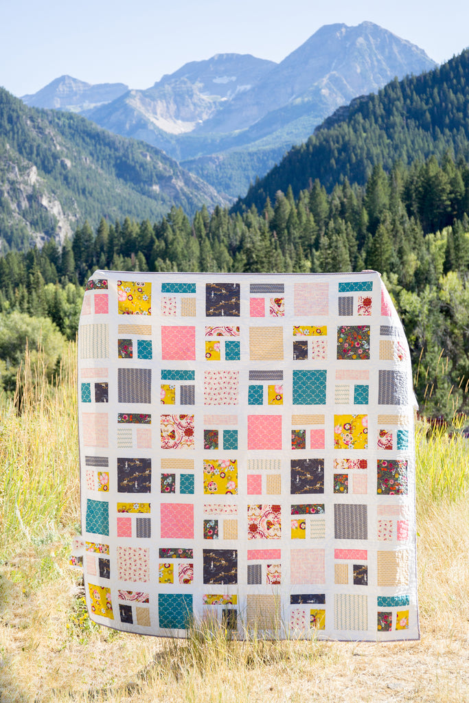 PATTERN (PDF): Around the Block Quilt Pattern (Immediate Download)