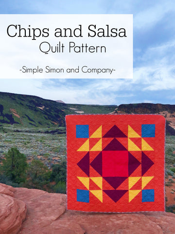 PATTERN (PDF): The Chips and Salsa Quilt (Immediate Download)