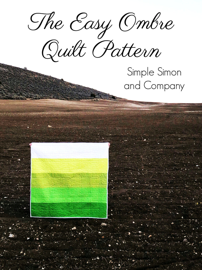 PATTERN (PDF): Easy Ombre Quilt Pattern (Immediate Download)