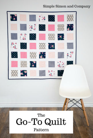 PATTERN (PDF):  Go-To Quilt Pattern (Immediate Download)